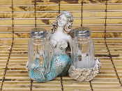 Mermaid Holder with Salt and Pepper Shaker Set