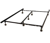 Hercules Standard Adjustable Metal Bed Frame with 7-locking whee