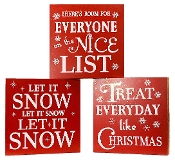 Christmas Block Saying Signs, 3-Designs