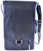 Vino2 Two Bottles Flux Leather Wine Tote Messenger Carrier