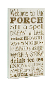 Welcome to Our Porch 15 x 8 Wooden Sign
