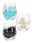 Besties Wine Glasses (Set of 3)