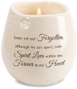 Heart 8 oz. Soy Filled Candle Scent: Tranquility