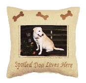 Spoiled Dog Lives Here Photo Pillow