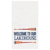 Welcome To Our Lakehouse Kitchen Towel