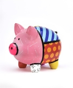"Romero Britto Piggy ""Pig"" Money Bank"