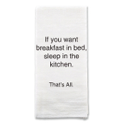 Breakfast in Bed Tea Towel