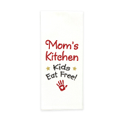 "Mom's Kitchen Flour Sack ""Kids Eat Free"" Towel"
