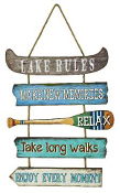 Moby Dick Lake Rules Wooden Sign