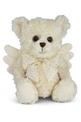 Bearington Peace Plush Animal Angel Teddy Bear