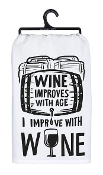 Wine Improves With Age Dish Towel