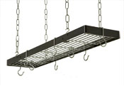 Rogar 35in Hanging Rectangle Pot Rack