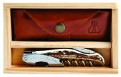 Laguiole Millésime Genuine Stag Horn Handle Set with Wood Box