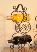Iron Three Bottle Wine Rack